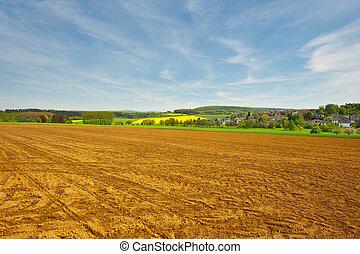 Plowed Field - Trail of Tread on the Plowed Field, Germany