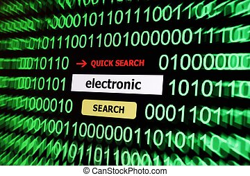 Search for electronic