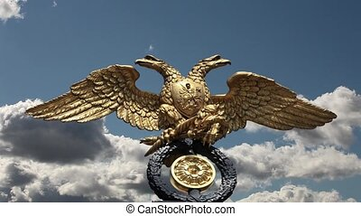 double headed eagle - Russian double headed eagle on sky...