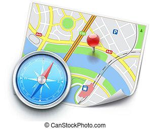 global navigation concept - Vector illustration of global...