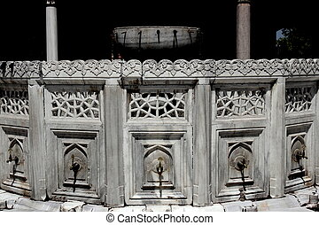 Sultan Ahmed mosque fountain - Fountain located in the...