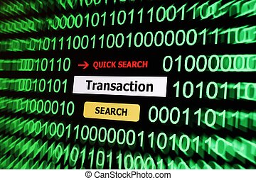 Search for transaction