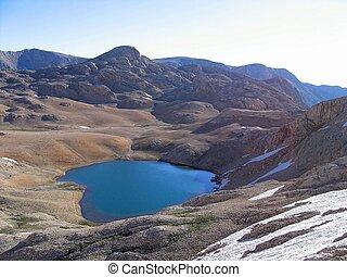 Aladaglar Mountains and Lake Landscape