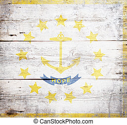 Flag of the state of Rhode Island and Providence Plantations...