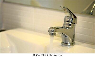 running faucet