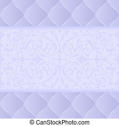 light blue background with ornament