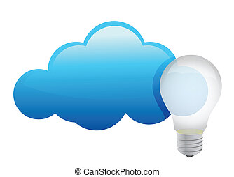 Cloud maintain ideas concept illustration design over a...