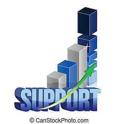 Chart support graph illustration design over a white...