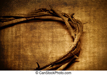 Jesus Christ crown of thorns - a representation of the Jesus...