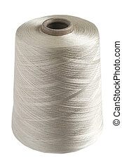 Silk yarn rolled coil - Fine white silk yarn rolled on coil...