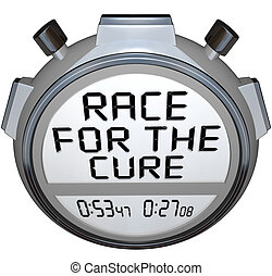 Stopwatch Timer Race for the Cure Clock Time - The words...