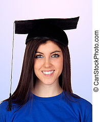 Young student with graduation cap