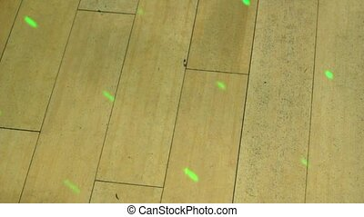 FLOOR1 - Hard wood floor with redgreen club lights