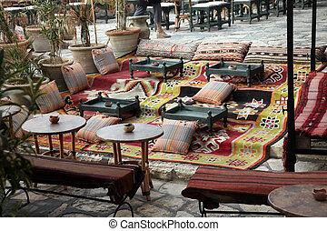"""Sidi Bou Said cafe - Hammamet. Tunisia. Medina and """"Sidi Bou..."""