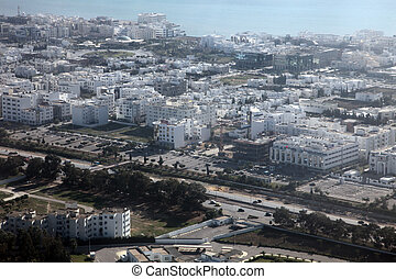Tunis aerial view