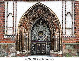 Saint Nicholas Church Stralsund - the portal of the Saint...
