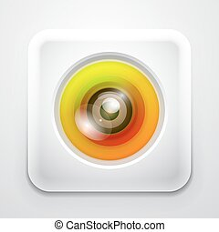 Colorful camera app icon