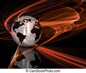 Abstract globe - Globe on abstract background