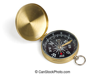 Vintage compass isolated