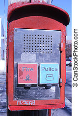 Emergency Reporting System box - BROOKLYN,NEW YORK -...