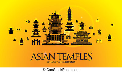 Asian building, temple, pagoda - Asian - Chinese building,...