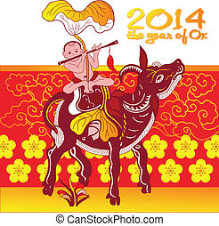 Chinese New Year - Greeting card design