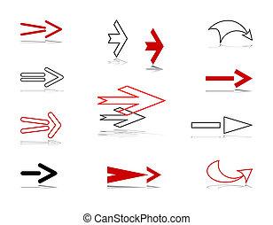 Arrows. Design elements.