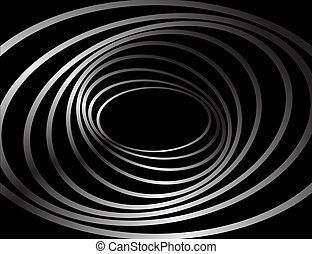 Spiral motion. Abstract background. Vector art.