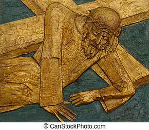 9th Station of the Cross, Jesus falls the third time