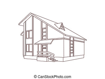 Dwelling house Vector art