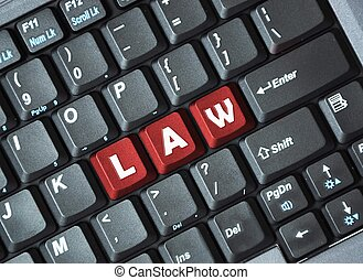 Law on keyboard
