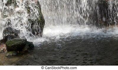 stream flow cascade stone