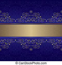 Template with ornate floral seamless pattern on a violet...