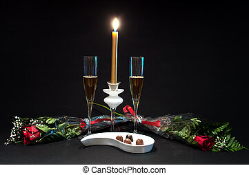 Champagne, chocolates and roses - 4 - Champagne and...
