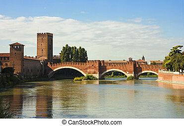 The Castelvecchio Bridge in Verona