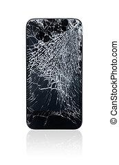 quebrada, móvel, telefone