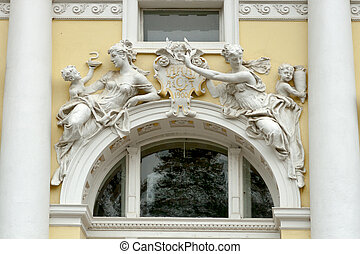 Marianske Lazne architecture, Czech Republic. - Fragment of...