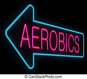 Aerobics concept.