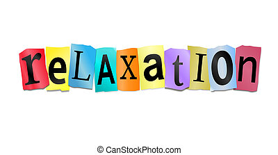 Relaxation concept - Illustration depicting cutout printed...