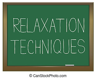 Relaxation concept - Illustration depicting a green...