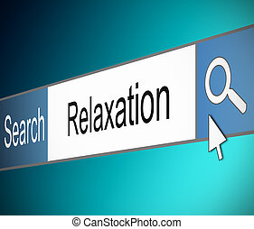 Relaxation concept - Illustration depicting a screen shot of...