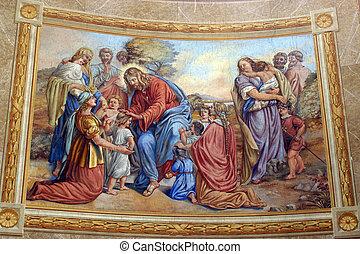 poco,  Jesús, niños, amigo