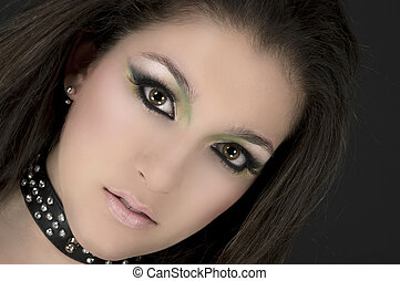 Rock Star - Rock singer with beautiful make up