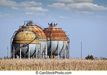 industry zone with gas tank