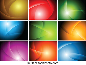 Bright abstract wavy backgrounds. Vector design