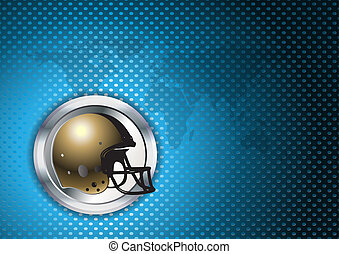 american football chrome background