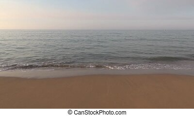 calm ocean seashore 30 - lonely sand beach seashore in...