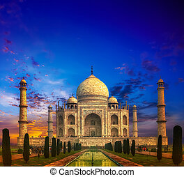 Taj Mahal India Sunset