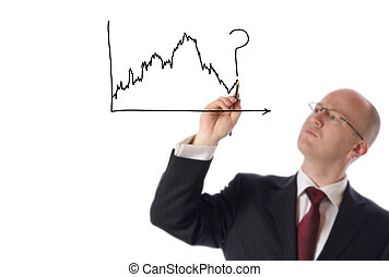 businessman drawing graph - businessman drawing on copy...