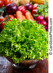 green lettuce salad